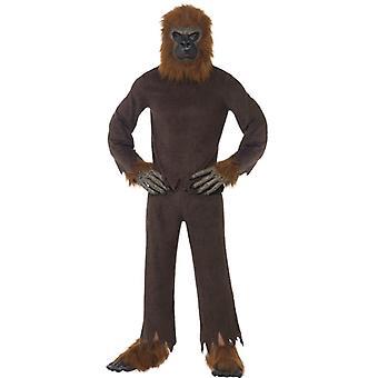 Gorilla Kostüm ekonomi Monkey Suit 7'li Kostüm Erkek