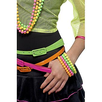 80 's armband neon keten neon nachten 4-kleur 4 kettingen