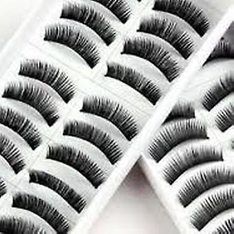 20 pares negro largo hecho a mano voluminoso falsas pestañas pestañas por Boolavard® TM