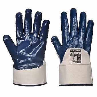 Portwest - Nitrile Safety Cuff Aqua Grip Glove (1 Pair Pack)