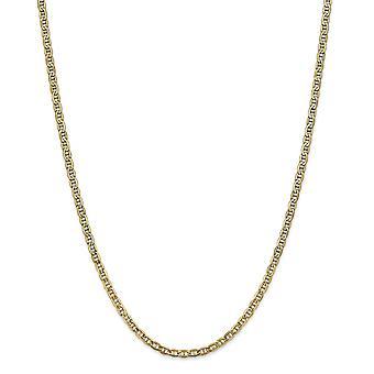 14k gouden 3,2 mm semi solide nautische schip mariner anker ketting enkelband 9 inch sieraden geschenken voor vrouwen