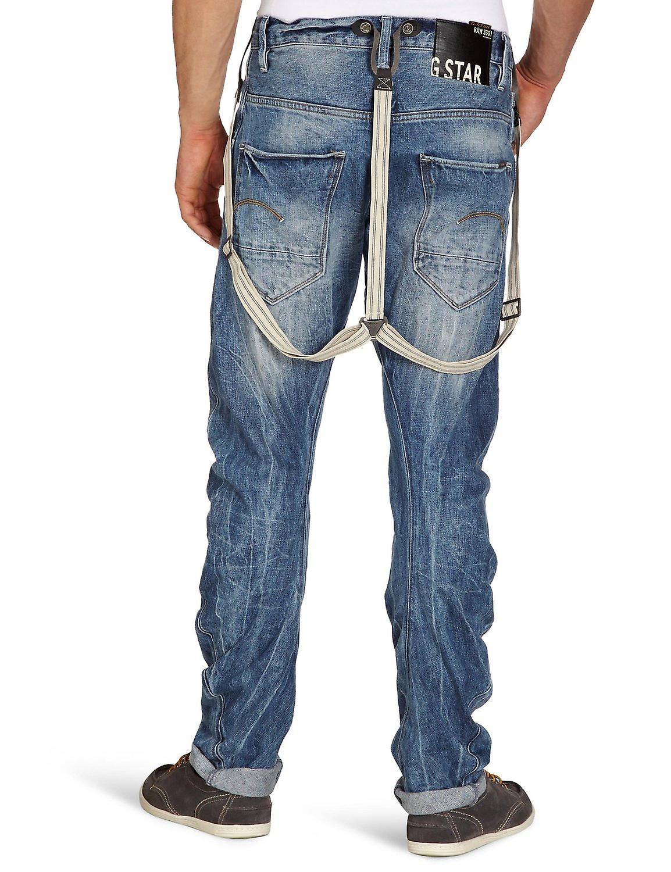 G-Star Arc 3D Tapered Braces Aged Wash Oligo Denim Jeans