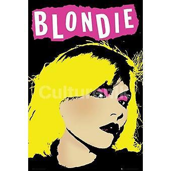 Blondie - Punk Pop Art - vaaleanpunainen juliste Juliste Tulosta