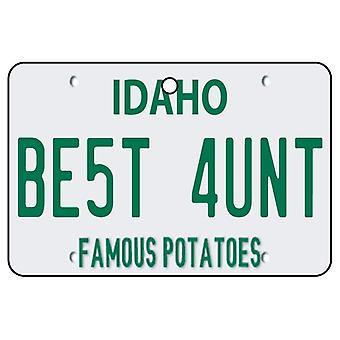 Idaho - Best Aunt License Plate Car Air Freshener