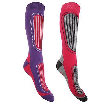 FLOSO Womens/dames Ski sokken (Pack van 2)