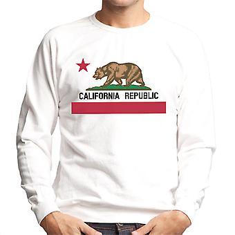 Kalifornien Republiken staten bära flagga Mäns tröja