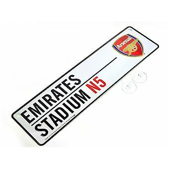 Arsenal FC piłce nożnej 3D tłoczone metalowe wiszące ulica znak