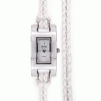 White Ladies Womens Braided Watch
