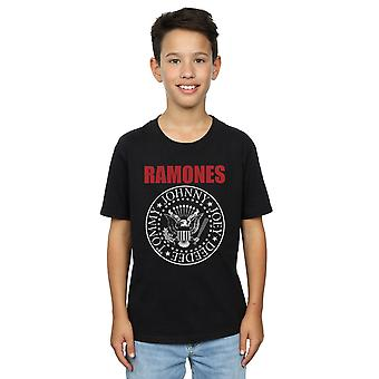 Ramones Boys Red Text Seal T-Shirt