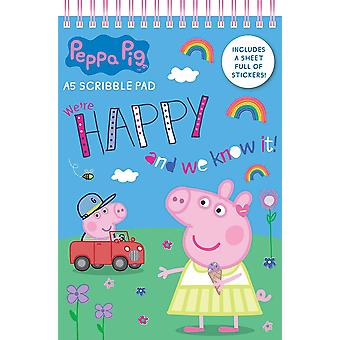 Peppa Pig Girls A5 Soft Cover Scribble Pad