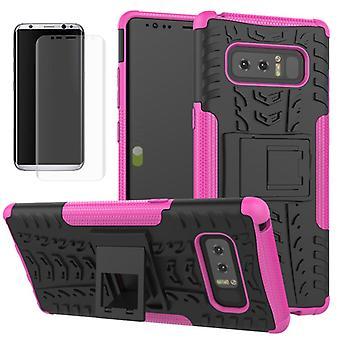 Cassa dell'ibrido della borsa 2 pezzo SWL rosa Samsung Galaxy touch 8 N950 N950F + diapositiva serbatoio