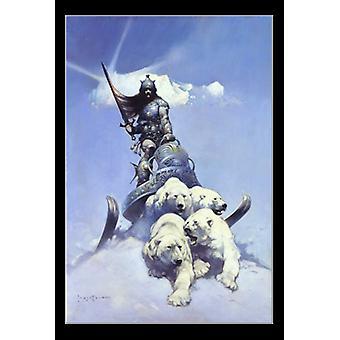 Silver Warrior - By Frank Frazetta Poster Print