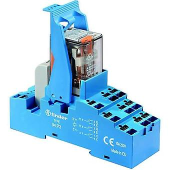 Finder 58. P3.9 024.0050. Relay component 1 pc(s) Nominal voltage: 24 V DC Switching current (max.): 10 A 3 change-overs