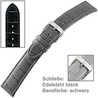 Watch band watch band för mäns svarta amerikanska män armband 18 mm