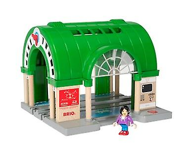BRIO World Central Train Station 33649 with ATM and sound for Wooden Train Set