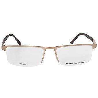 ポルシェ デザイン P8239 B 長方形 |マットのゴールド |眼鏡フレーム