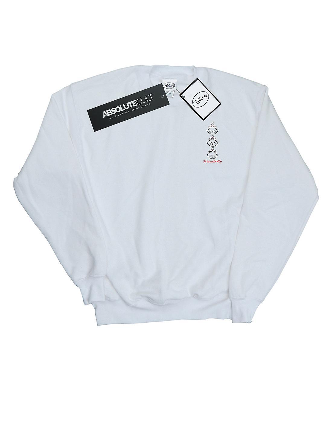 Disney Men's Aristocats Marie Breast Print Sweatshirt
