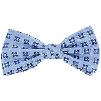 Gravatas de Knightsbridge flor seda gravata borboleta - azul