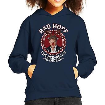 デイヴィッド Hasselhoff クリスマス・ラッド・ホフ・ルドルフ・キッドのフード付きスウェットシャツ