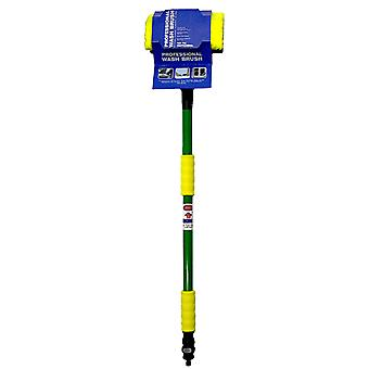 Telescopic Brush 1.8 M with Hose Adapter for Window and Car Cleaning Large Flow
