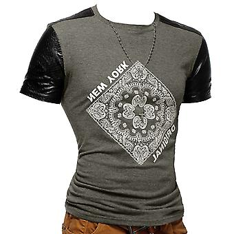 Mens T-Shirt Unisex Polo Club Wear bandana Paisley Mexico
