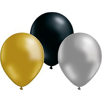 Ballons 24-Pack Noir