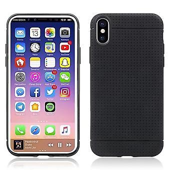 Slank, mykt, svart etui-iPhone XS