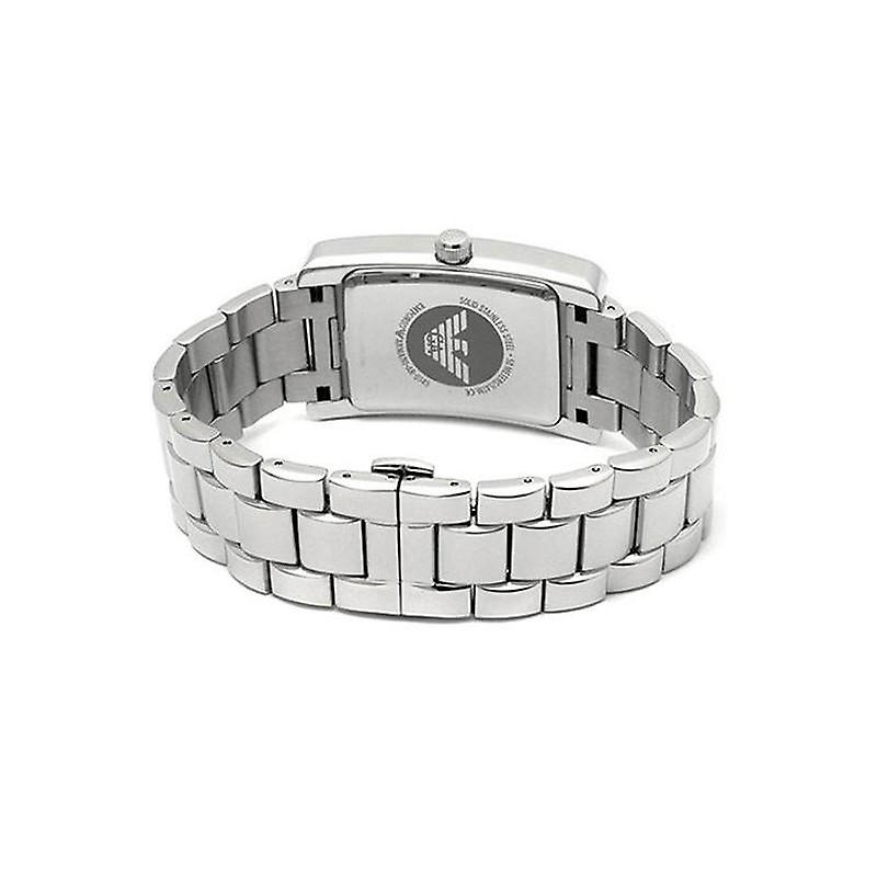 Emporio armani ladies stainless steel rectangle watch ar0146