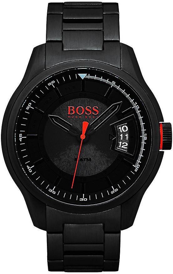 Hugo Boss Orange Hong Kong Black Men's Watch