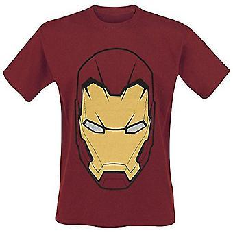 MARVEL COMICS Iron Man masque T-Shirt - taille M - rouge (TS828031CAP-M)