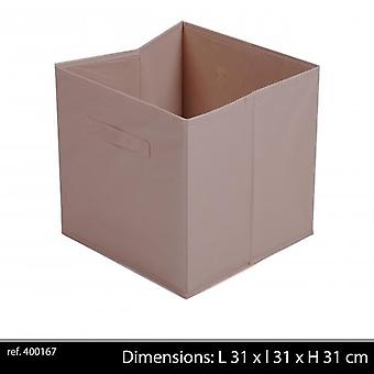 Stoff-Speicher Cube 30x31x31cm Taupe