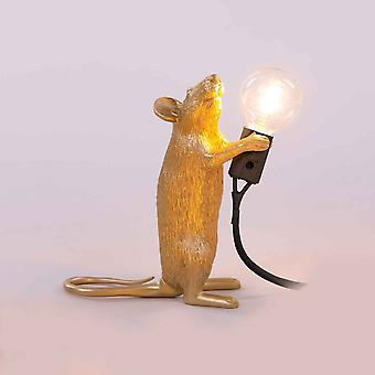 Seletti Maus Lampe In Gold-Finish stehend Auflage