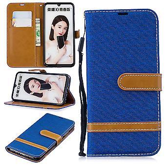 2019 telefon Huawei P ochronny Pokrowiec etui pokrycie etui portfel karty posiadacz niebieski