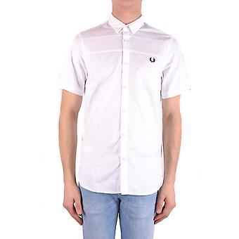 Fred Perry Ezbc094031 Men's White Cotton Shirt