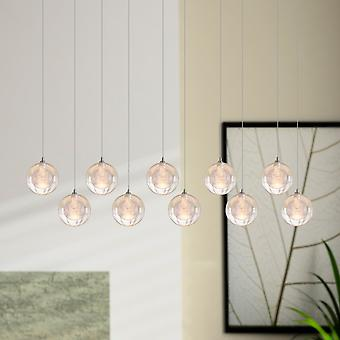 Chambre moderne de plafond lumineux pendentif lampe repas rectangulaire couvert 10 pendentif Light