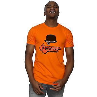Clockwork oranssi miesten Bowler Hat logo T-paita