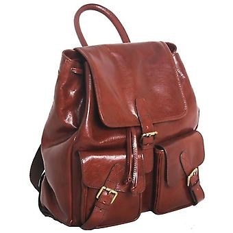 Ashwood Leather Chelsea Veg Tan Leather Rucksack - Chestnut