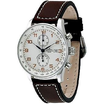 Zeno-se X-large retro menns ur chronograph Bicompax P557BVD-f2