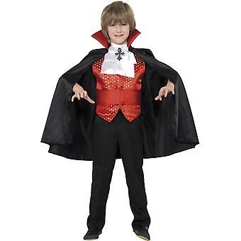Costume Young Dracula Costume Kids with Cloak cummerbund Tie and Vest Kids Costume