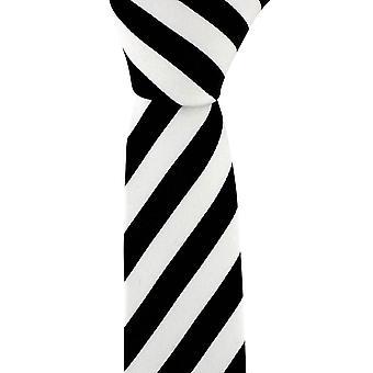 David Van Hagen Skinny stribet slips - sort/hvid