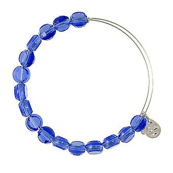 Alex and Ani Sapphire Luxe Bead Silver Bangle BBEB113S