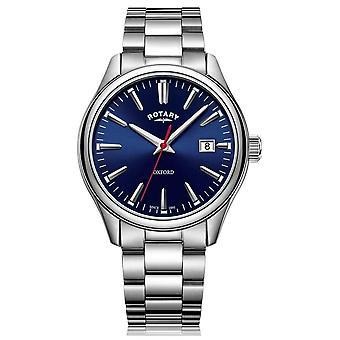 O Rotary | Gents pulseira de aço inoxidável | Mostrador azul | GB05092/53 relógio