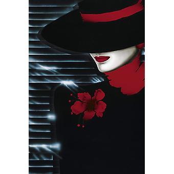 Poster - Studio B - 24x36 Scarlet Lady Wall Art CJ1488B