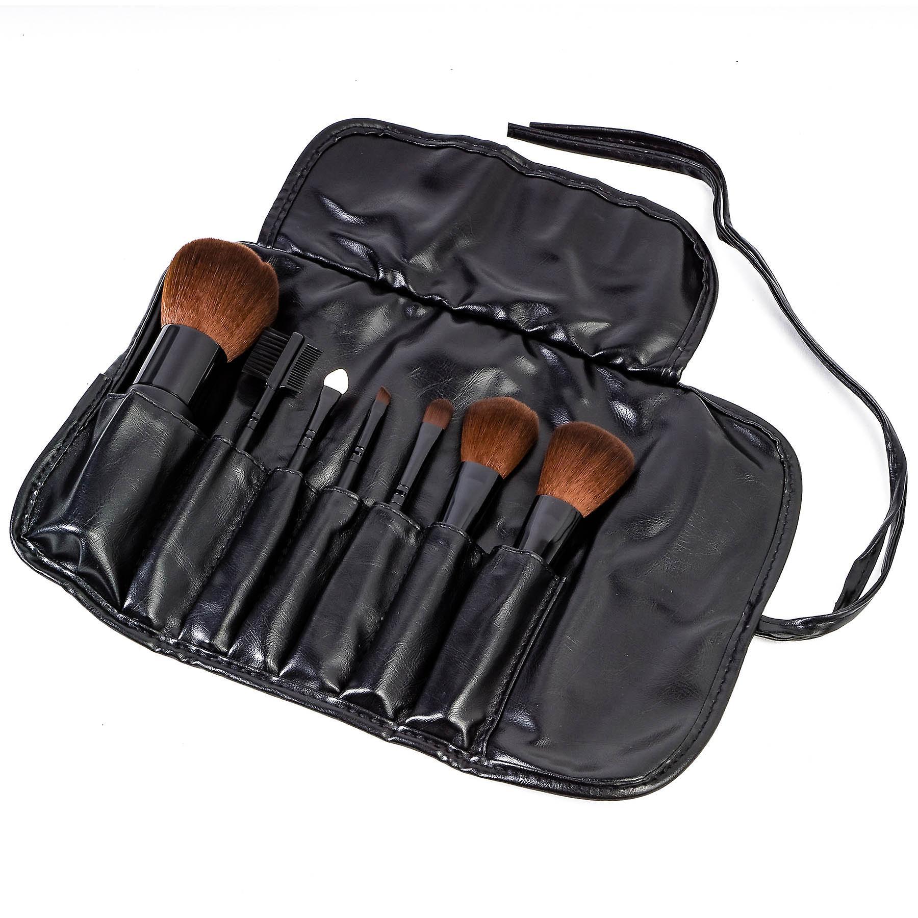 SHANY Studio Quality Auburn Synthetic Bristles Cosmetic Brush Set with Large Kabuki, 7 pc