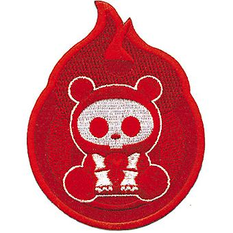 Patch - skelanimals - Bear Flame Red Iron On Licensed Gifts Toys p-ska-0001
