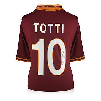 Francesco Totti Signed AS Roma Football Shirt 2013-14