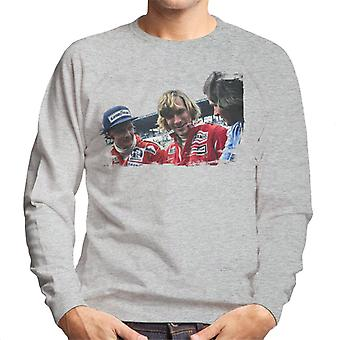 Motorsport beelden Niki Lauda James Hunt & Barry Sheene mannen ' s Sweatshirt