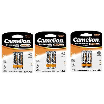 6x Camelion rechargeable batteries AA NiMH 2700mAh battery
