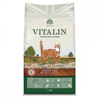 Vitalin Adult Cat Food With British Chicken