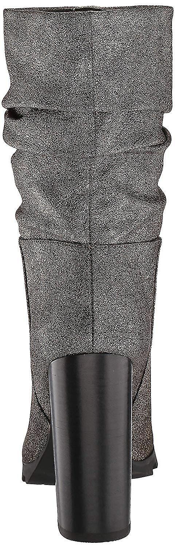 Katy Perry Womens Raina Fabric Pointed Toe Mid-Calf Fashion Boots